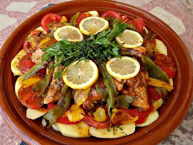 tajine de poisson marocaine