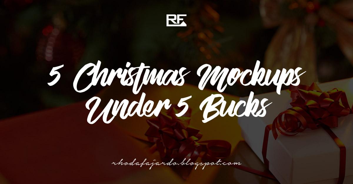 5 Christmas Mockups Under 5 Bucks