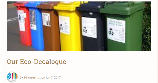 Project: Our Eco-Decalogue