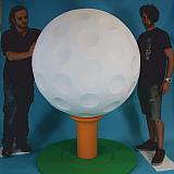 bola de golfe gigante