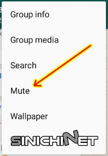 nonaktifkan, mute, menghilangkan, bunyi pemberitahuan, bunyi notifikasi, grup chat whatsapp, android, smartphone