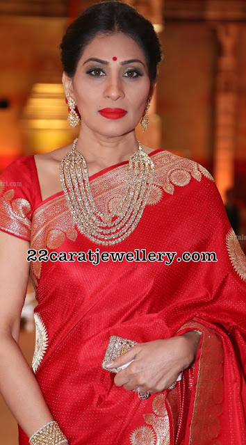 Shreedevi Chowdary Multi Layers Diamond Set