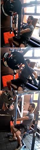 Ejercicio para trabajar los músculos pectorales en máquina sentado