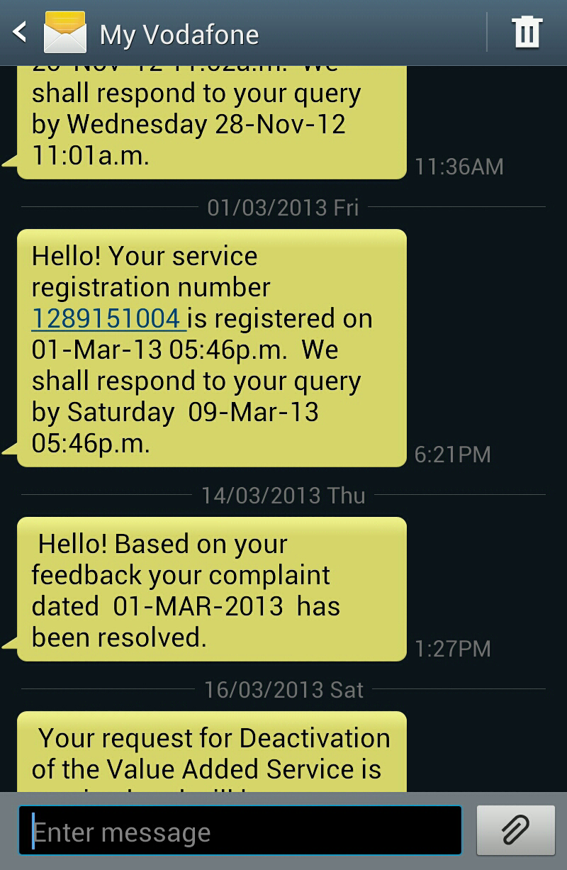 Network issues with Vodafone and hopeless customer service