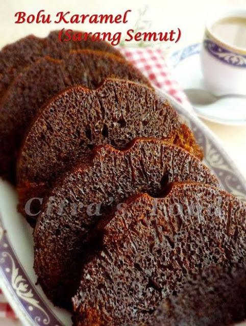 Indonesian Honeycomb Caramel Cake / Bolu Sarang Semut (cake karamel)