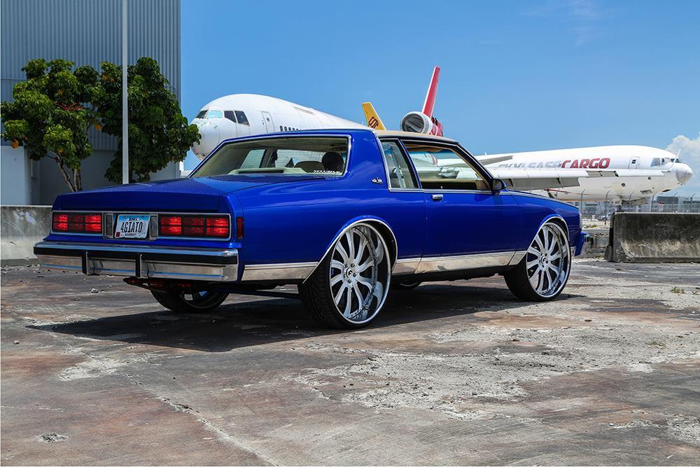 1989 blue chevrolet caprice box chevy rides on chrome forgiato wheels. Black Bedroom Furniture Sets. Home Design Ideas