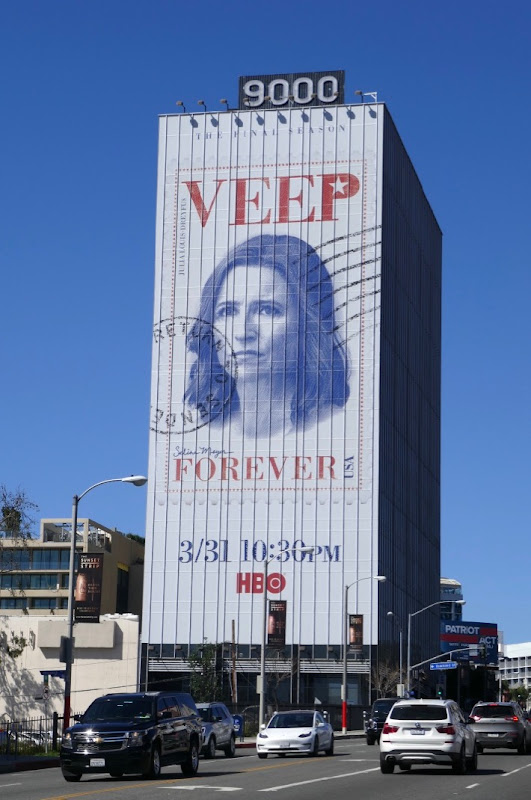 Giant Veep final season 7 billboard