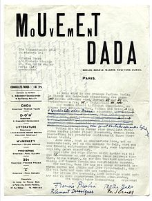 about dadaism essay Hannah hoch (born anna therese johanne hoch on november 1, 1899) remains a well-known member of the berlin dada movement, and was among the first.
