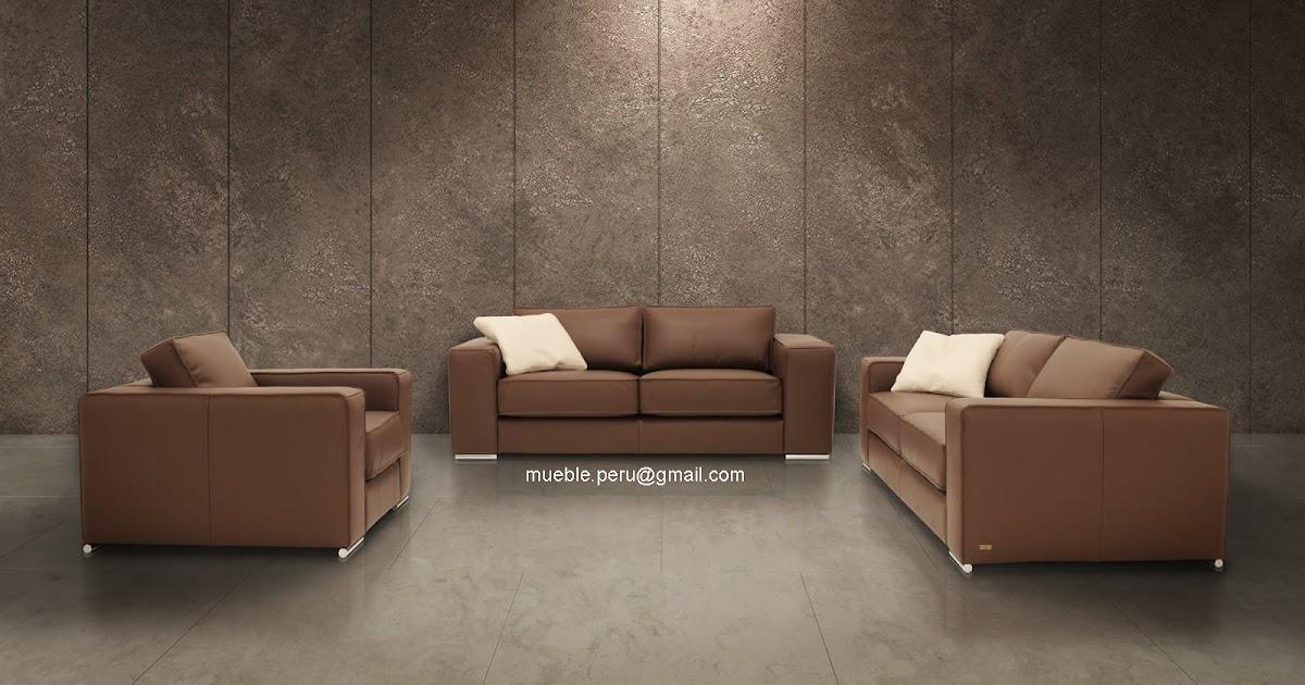 Mueble peru muebles de cuero salas de cuero for Muebles de sala de cuero