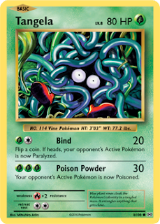 Tangela Evolutions Pokemon Card
