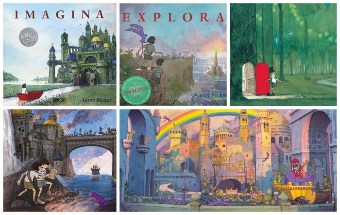 cuentos sin texto imagina y explora de Aaron Becker de aventuras