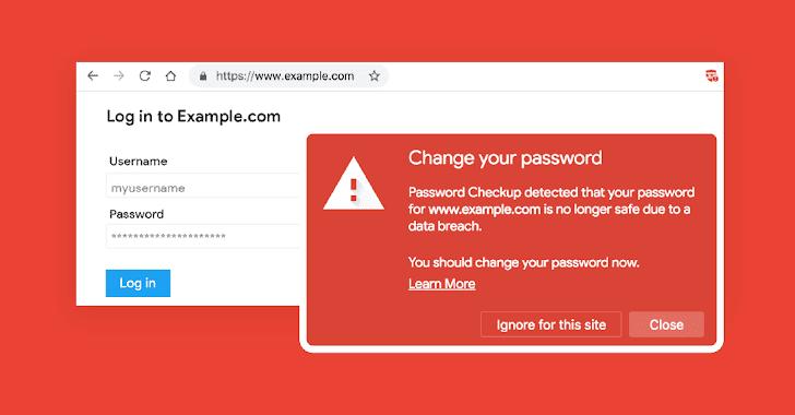 Alertas de la nueva herramienta de Google cuando utiliza credenciales comprometidas en cualquier sitio