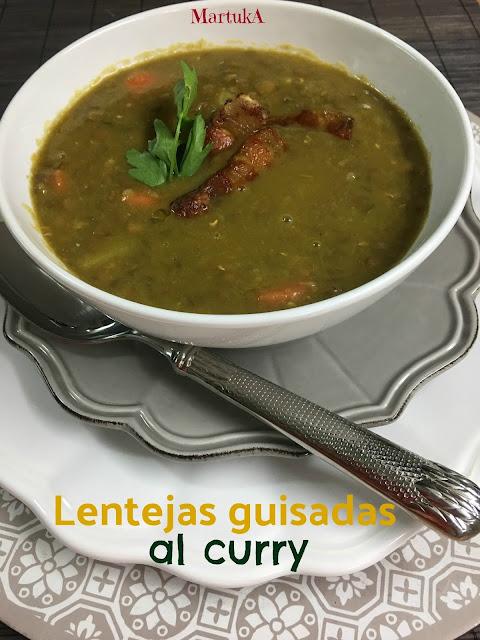 Lentejas Guisadas Al Curry