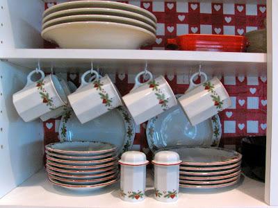 May Days Valentine Kitchen Cabinet