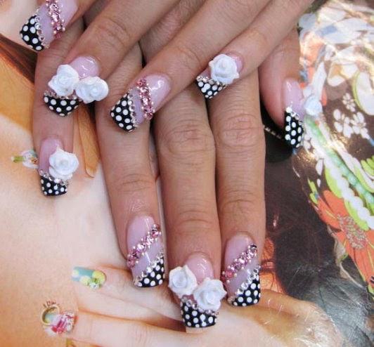 Uñas postizas decoradas - decoracion de uñas