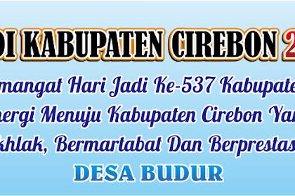 Banner Spanduk HUT Kabupaten Cirebon ke 537 tahun 2019
