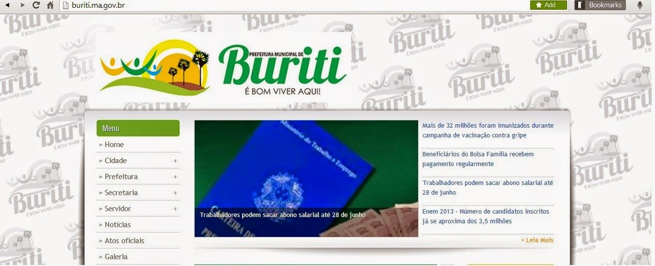 A prefeitura municipal de Buriti deu edb651d1f7a67