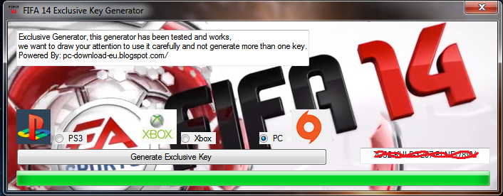 generate your free key for fifa 14