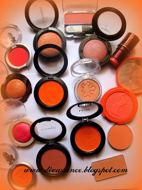 orange blush price, orange blush swatches, blush review, Indian blog