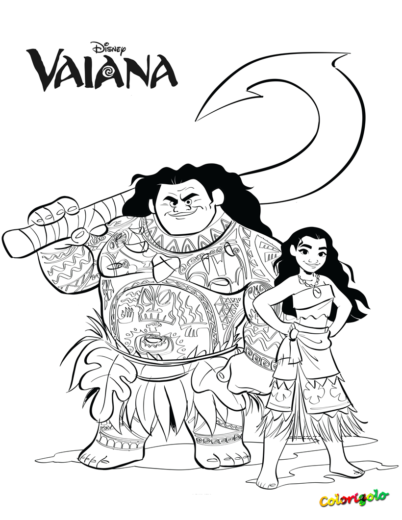 Colorigolo coloriage disney vaiana - Coloriage disney ...