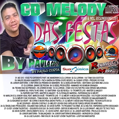 CD MELODY DAS FESTAS - 2016 - BY PAULO COSTA