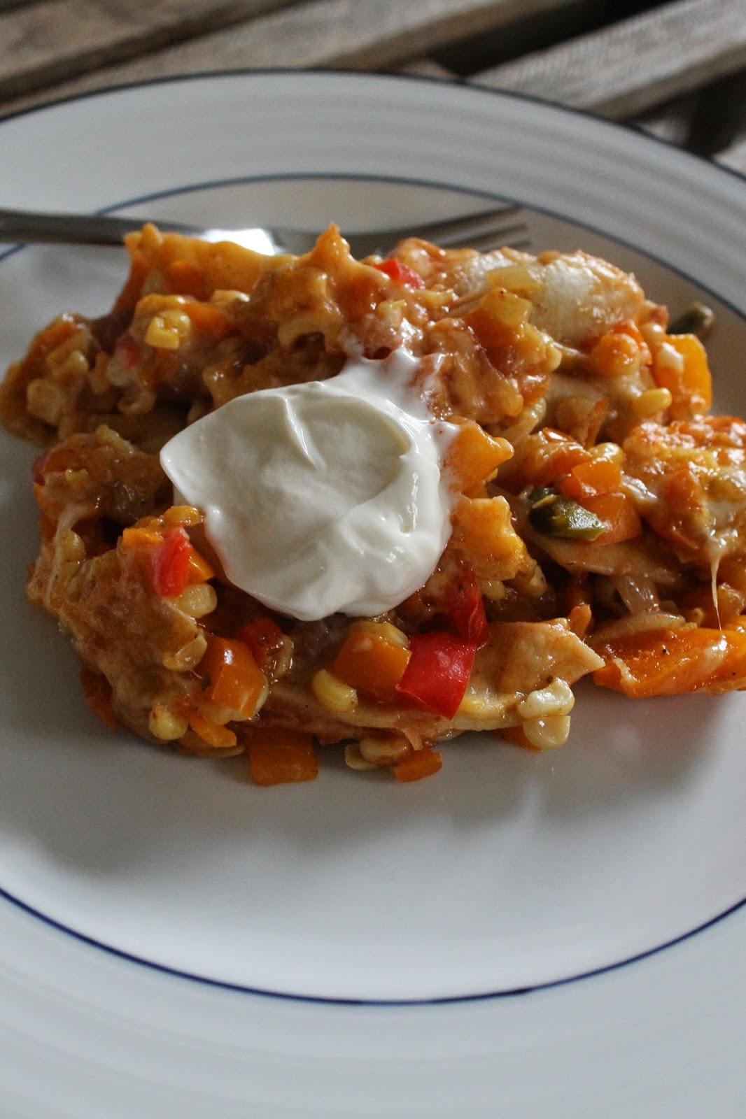 Life on Food: Healthy Mexican Vegetable Lasagna