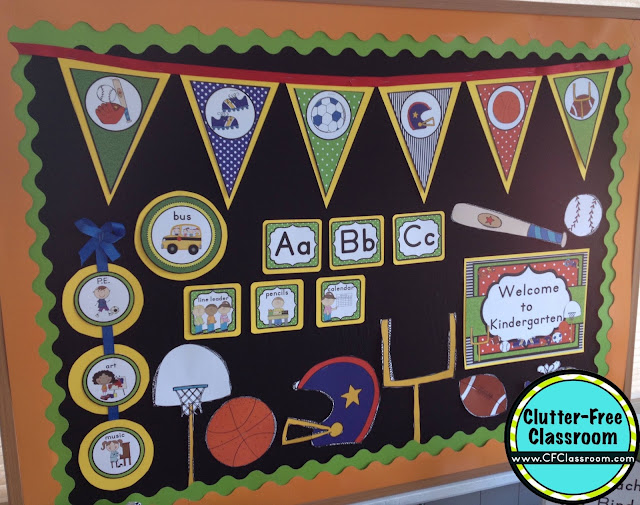 Classroom Decoration Printables ~ Sports themed classroom ideas printable