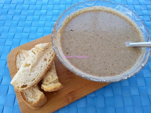 Mushroom soup - Zuppa di funghi