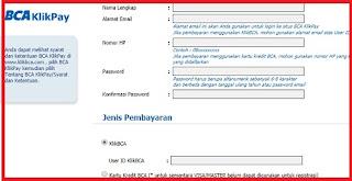 Halaman Registrasi BCA klikPay