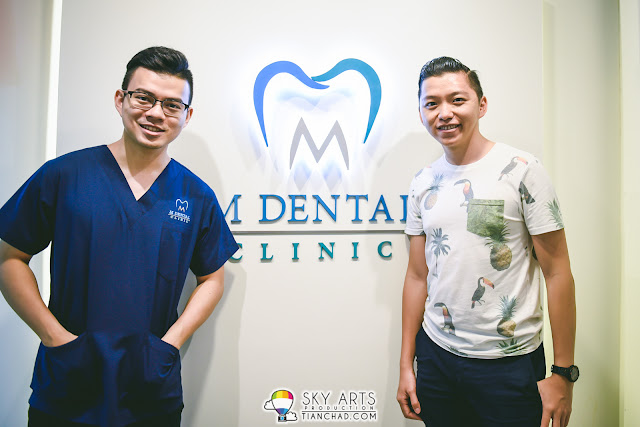 Dr. Melvin Sia and TianChad at M Dental Clinic