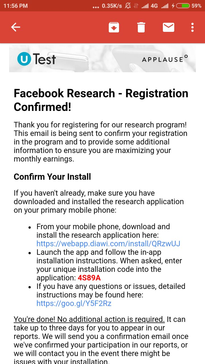Facebook Research App - Refer and Earn PayPal/Bank Cash - Tricksnomy