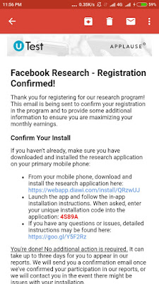 Installation of Facebook Research App