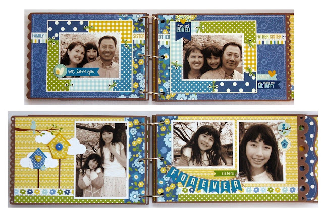 Pebbles Inc. Family Ties Mini Album by Mendi Yoshikawa