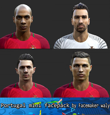 PES 2013 Portugal Mini Facepack by facemaker waly