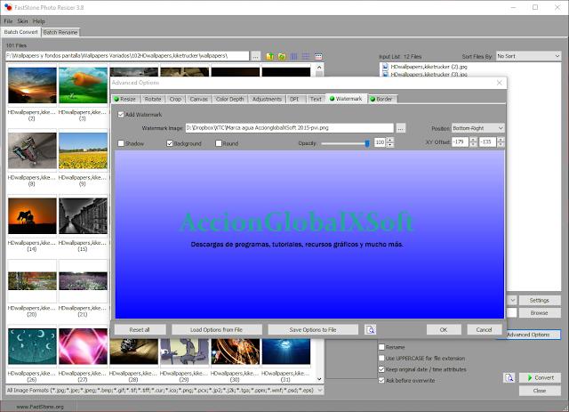 FastStone Photo Resizer 4.3 - Renombrar, redimensionar y añadir marcas de agua a tus imágenes por lotes
