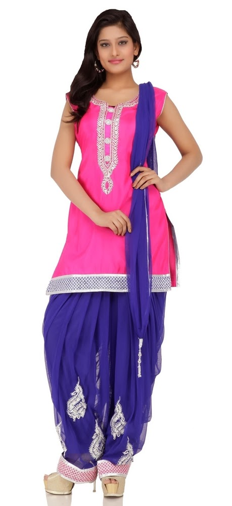 Chhabra555 Punjabi Suits Collection '14 | Punjabi Pleated Salwar with ...