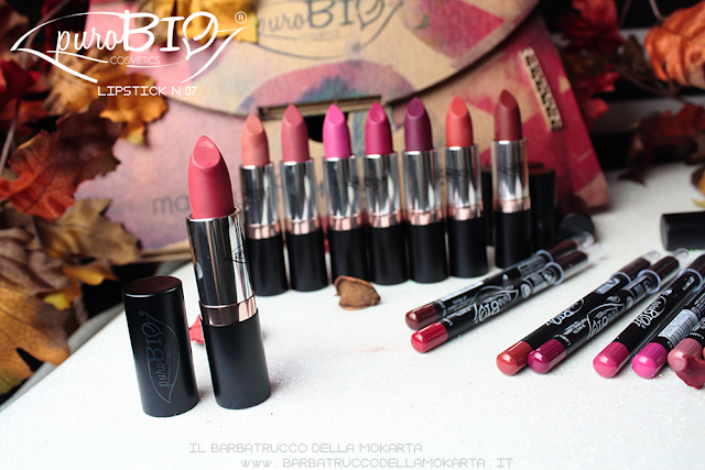 lipstick n 07 ,  rossetti purobio , lipstick, vegan makeup, bio makeup