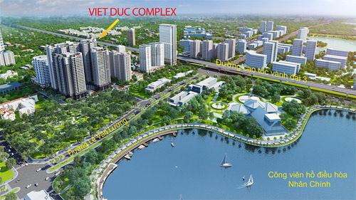 Vị trí thuận tiện của Việt Đức Complex