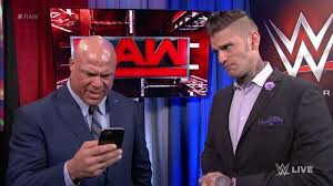 Kurt Angle Corey Graves Raw Text Message Mystery Backstage