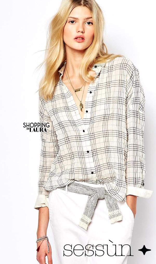 Chemise femme tendance : à carreaux SESSUN