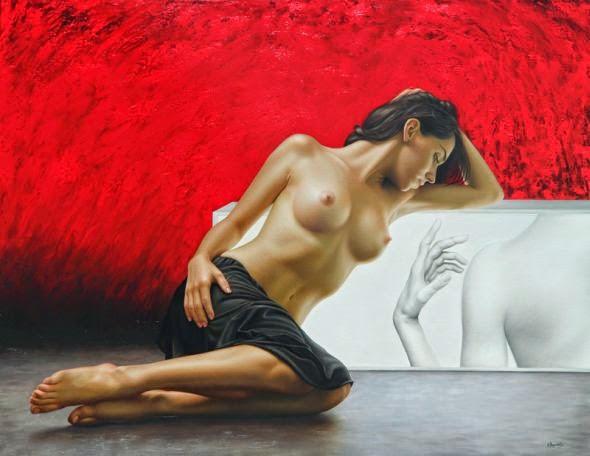 Gênesis - Omar Ortiz | Pintura Sensual Hiper-Realista  - Mexicano