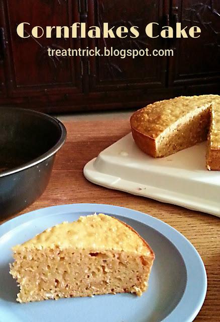Cornflakes Cake Recipe @ treatntrick.blogspot.com