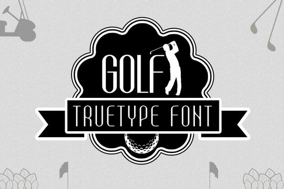 Font Golf Regular