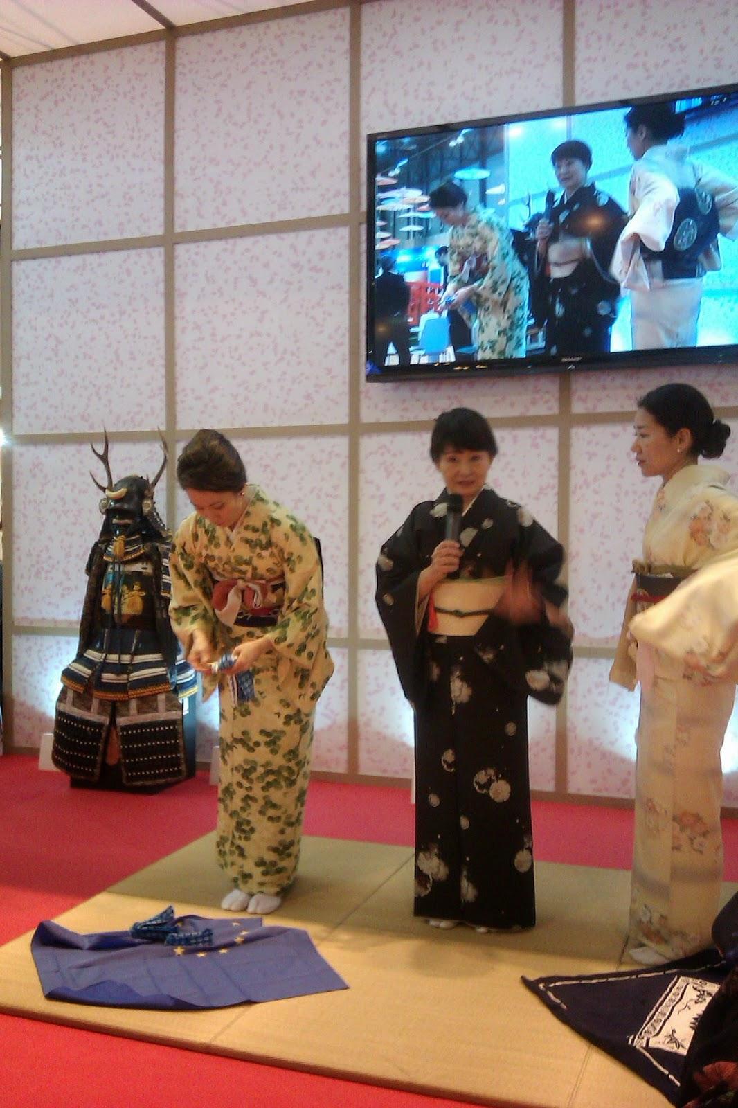 Demostración de kimonos