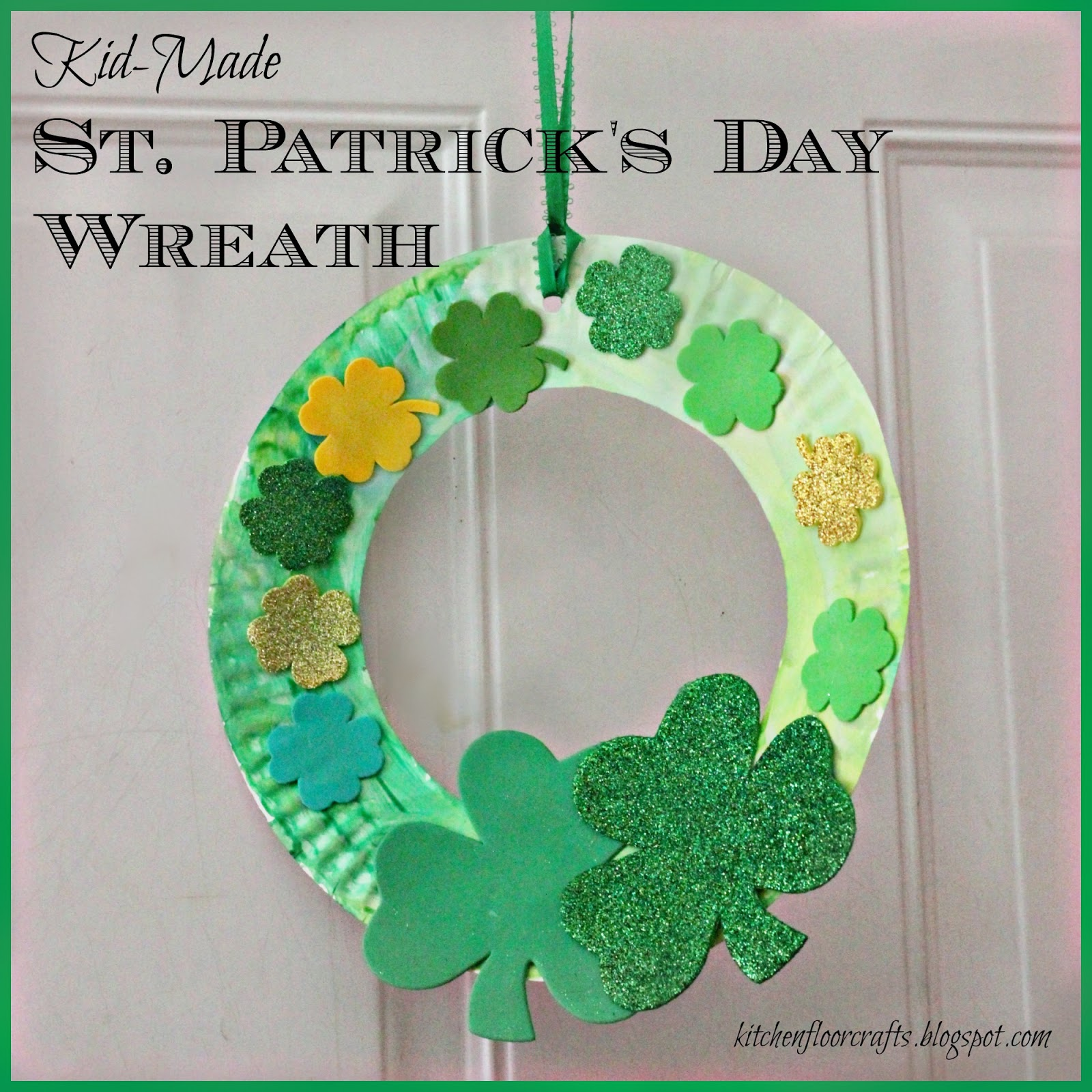 Kitchen Floor Crafts Kid Made St Patrick S Day Wreath