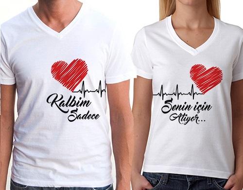 Kalbim Sadece Senin için Atıyor Tişört