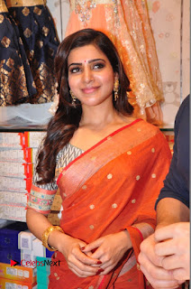 Actress Samantha Pictures in Saree at South India Shoping Mall Launch  0468
