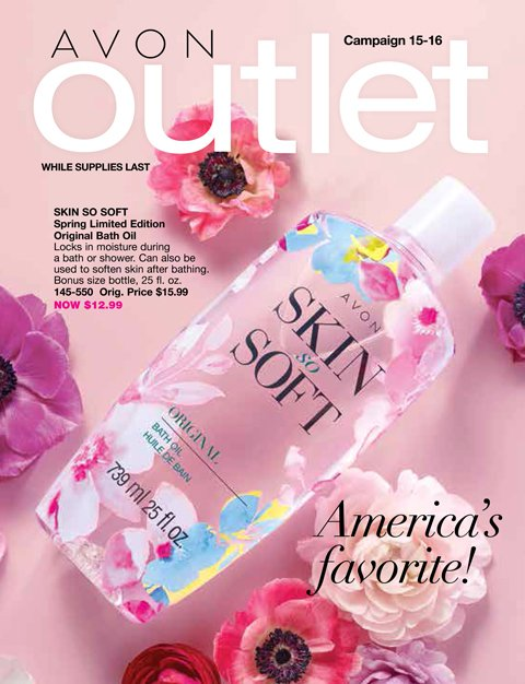 View Outlet Avon Campaign 15 - 16 Catalog Online