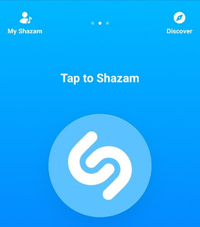 Shazam homescreen