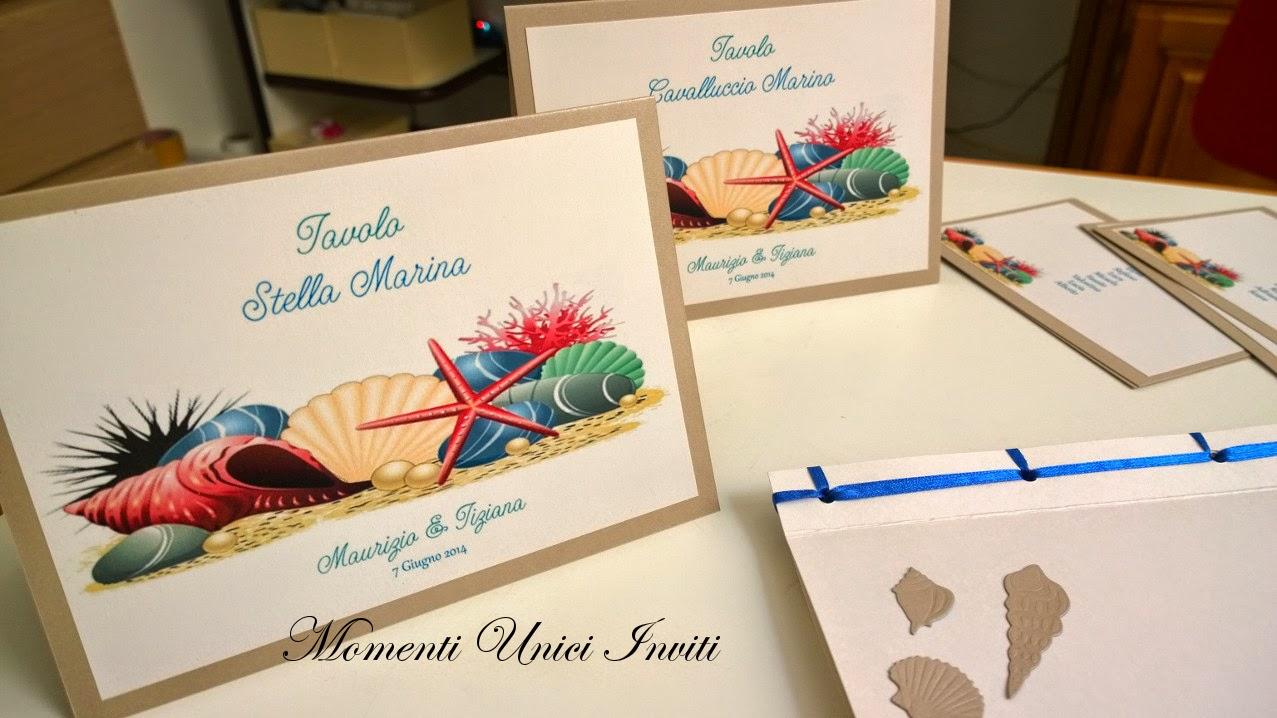 4 Guestbook e coordinato segnatavolo cards tableau tema mare per Maurizio e TizianaGuest Book Segnatavolo Tema mare